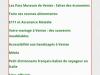 Les pages qui développent le menu choisi