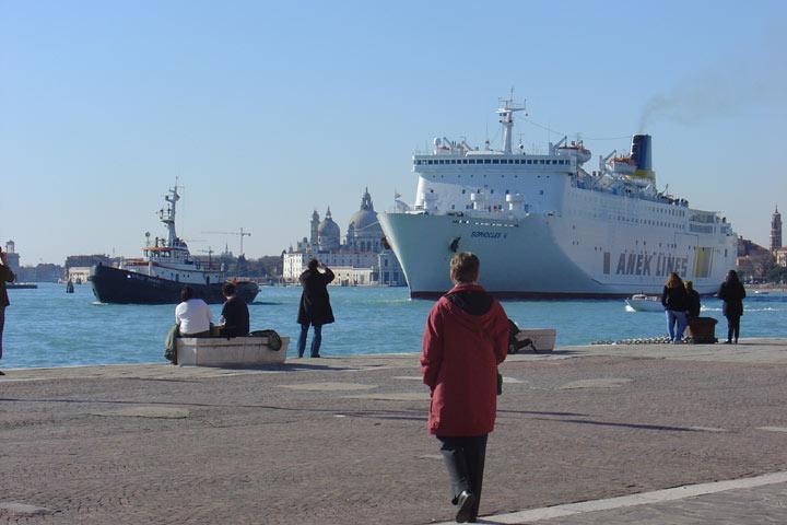 Terminal de croisière du port de Venise .