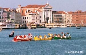 regata en caorline Regata storica à Venise ou régate historique de Venise