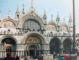 façades de la basilique Saint Marc à Venise