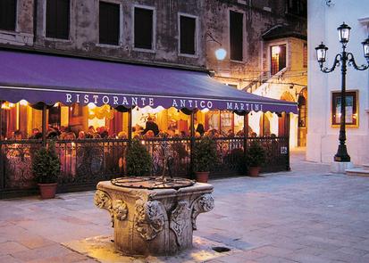 Restaurant pour un dîner de réveillon à Venise