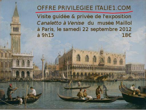 Visite guidée de l'exposition Canaletto à Venise
