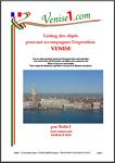 objets de l'exposition Venise à louer