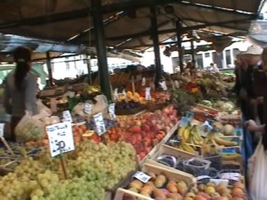 Le marché du Rialto à Venise
