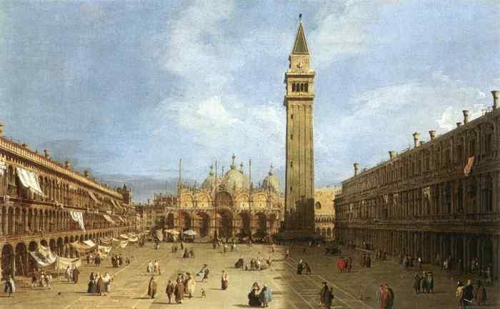 La place Saint Marc, vu par Canaletto