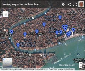 Carte de Saint Marc à Venise