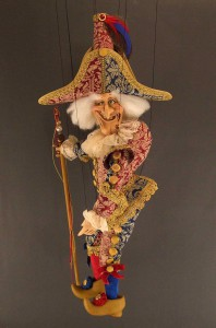 Marionnette Polichinelle de Roberto Comin à Venise, en vente sur venise1.com