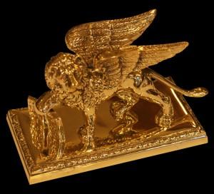 Lion de Saint Marc en laiton de Venise