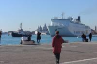 Navire de croisière à Venise