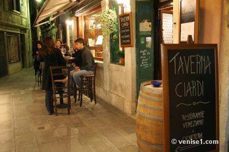 Restaurants typiques à Venise