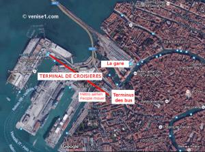 port de croisières à Venise terminal de croisières à Venise