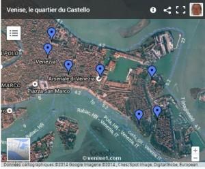 carte du castello à venise