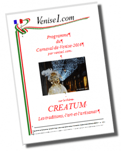 Programme du carnaval de Venise 2016