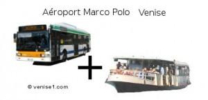 bus et vaporetto : aerobus-vaporetto