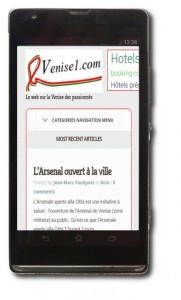venise1.com sur smartphone