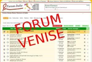 Forum de discussions sur Venise