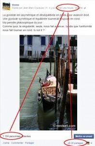 Venise1.com sur Facebook Venise et twitter Venise