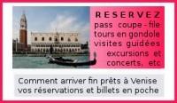 réserver gondole, concerts, visites guidées à Venise