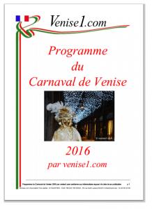 carnaval de venise 2016 programme