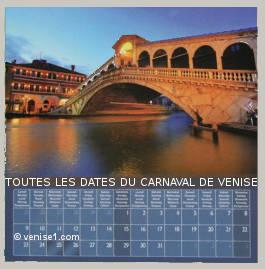 dates du carnaval de Venise