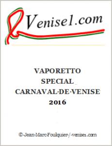 Vaporetto Carnaval de Venise 2016
