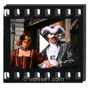 Vidéo d'ambiance au carnaval de Venise