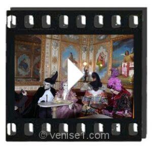 Vidéo du carnaval de Venise au Café Florian