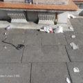 Détritus de pique-nique à Venise