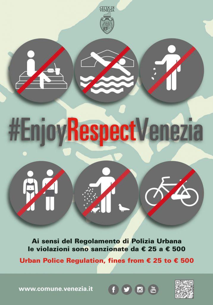 Comportements interdits à Venise