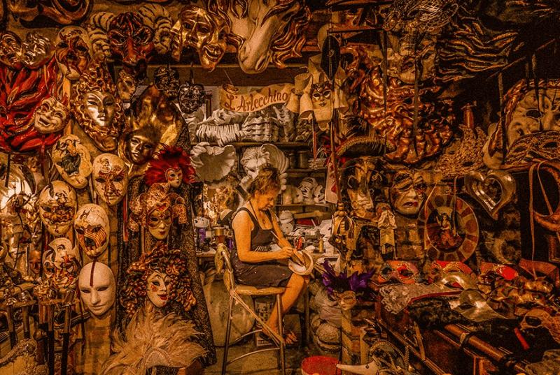Atelier artisanal de Venise : L'Arlecchino