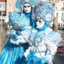 Masques de Carnaval de Venise… variations en bleu