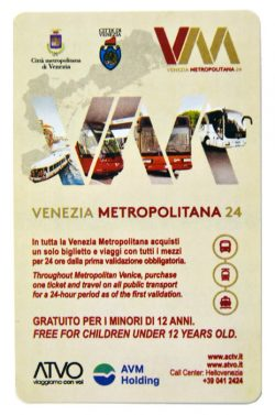 Billet famille de vaporetto Venezia Metropolitana