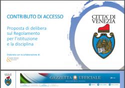 contribution d'accès à la cité historique de Venise