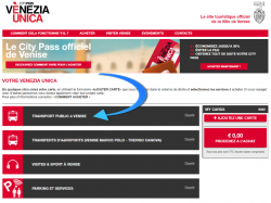 City pass Venise transports vaporetto et bus ACTV