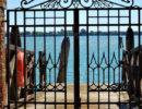 Photo de fer forgé à San Clemente, lagune vénitienne
