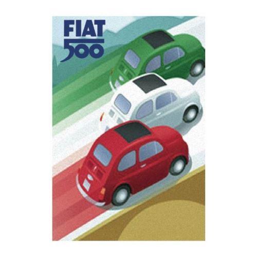Plaque décorative Fiat 500