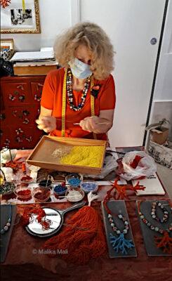perles en verre de Marisa Convento