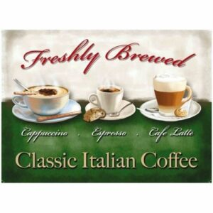 Plaque décorative Classic italian coffee