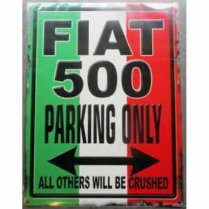 plaque décorative parking Fiat 500