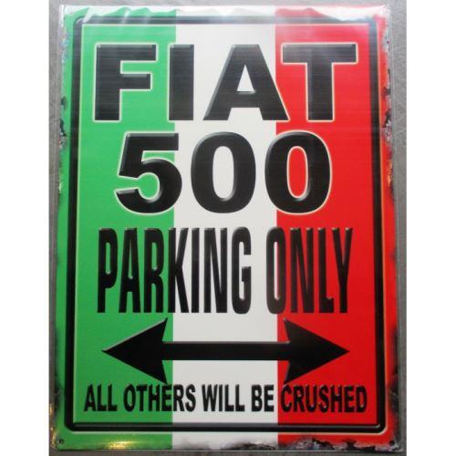 plaque décorative parking Fiat 500