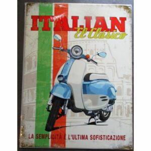 Plaque décorative scooter
