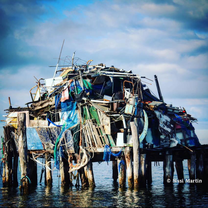 Mondo della Luna trabacco de la lagune Sud de Venise