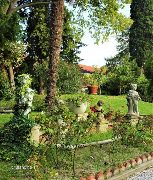 jardin du palais Zenobio à Venise